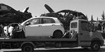 llegada de vehículo al desguace